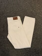Tommy Hilfiger Men's Hudson Jeans White Straight Fit W35 L33