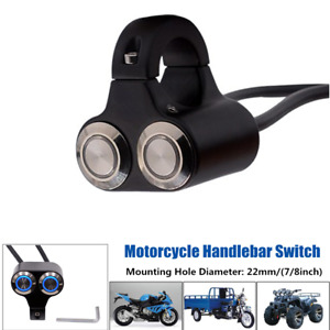 1PCS Two-button Engine Start kill Angle Handlebar Control Switch For 22MM Handle