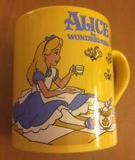 Disney's Alice In Wonderland Yellow Coffee Mug