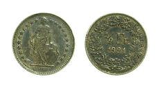 pcc1528_31) Svizzera  Switzerland  Helvetia -  1/2  Franco  1921 Toned