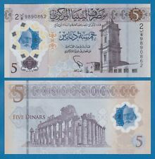LIBYA 5 Dinars P New 2021 UNC Polymer Low Shipping! Combine FREE!