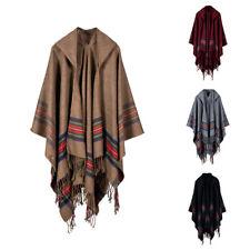 KQ_ Women Bohemian Hooded Cape Cloak Poncho Jacket Coat Shawl Scarf Cardigan Lot