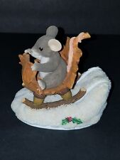 Fitz Floyd Charming Tails A One Mouse Open Sleigh 98/195 Excellent Condition