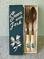 Vintage South Carolina Myrtle Beach Souvenir Fork & Spoon Salad or Serving Set