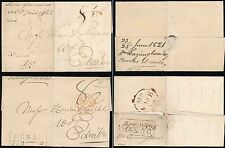 SCOTLAND 1821 + 1825 DUNSE BOXED MILEAGE 359 + 360...2 WRAPPERS