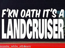LAND CRUISER 80 100 series 4x4 wagon Car Stickers FKN OATH 200mm