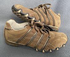 Sketchers Women's Originals Bikers Shoes Brown Leather 46071 Sneakers Size 8