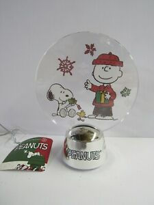 Dept 56 Peanuts Table Top Holidazzler 6000346 Lights Up