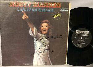 LP RUSTY WARREN Lays It On The Line (ORIG Vinyl, MCA 1971, GNPS-2081) NM SIGNED