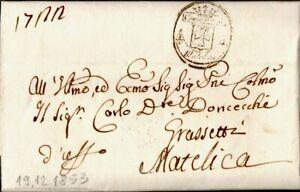 34 - Stato Pontificio 1853 - Lettera da Matelica