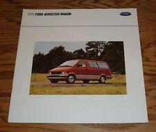 Original 1990 Ford Aerostar Wagon Sales Brochure 90