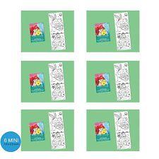 Little Mermaid Ariel Party Supplies Favours 6 MINI COLOURING BOOKS 20 Pages each