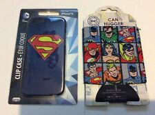 DC Comics iPhone 6 Cover Clip On Case Superman & Can Hugger Superfriends