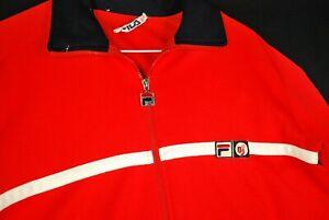 Vintage Bjorn Borg Fila BJ MK-2 Settanta Track Jacket Acrylic Red Tennis Mens M