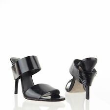 Alexander Wang Masha Women's Shoes Black Leather Double-Strap Sandals Sz 36 NEW!