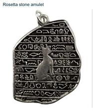 Rosetta Stone Amulet w/cord. Egyptian, Bast, Cat, Connection To Ancient Power