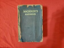 RARE 5th Edition Machinery's Handbook 1919 Leather Machinist Industrial Press