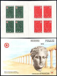 France B461a booklet, MNH. Red Cross.N.Desgenettes,M.d F.J.Broussais, m.d. 1972