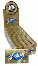 Cartine SMOKING ORO CORTE DOPPIE Gold scatola 25 pz 1 Box