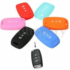 FOR KIA RIO CERATO OPTIMA K5 SORENTO SPORTAGE SILICONE KEY HOLDER COVER FOB CASE