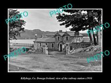 OLD LARGE HISTORIC PHOTO OF KILLYBEGS DONEGA IRELAND, THE RAILWAY STATION c1910