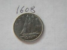 1968 ten cents 10c  dime coin Canada