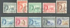 SOMALILAND PROTECTORATE 1953/8 QEII Pictorial Set to 2/- (10) Good/Fine Used