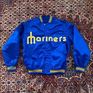 1980's Seattle Mariners Rawlings Satin Jacket Size 44 New Team Issued Griffey