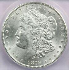 1878-CC Morgan Silver Dollar ICG MS61 Flashy White coin!