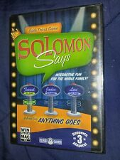 New Solomon Says cloud 9 games CD-ROM Bible Trivia Game Windows mac religious