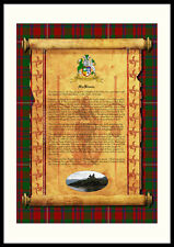 CLAN MACKINNON -Clan History, Tartan, Crest, Castle & Motto MOUNTED PRESENTATION