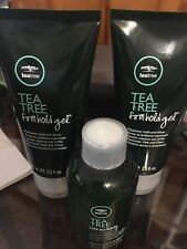 Paul Mitchell Tea Tree Firm Hold Gel 2.5 oz styling gel 2x leave in conditioner