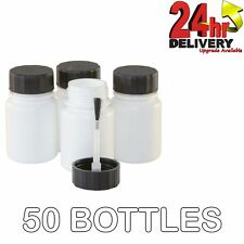 Touch Up Paint Bottles With Brush in Lid&Agitator Ball - 50 Pack 30ml Per Bottle