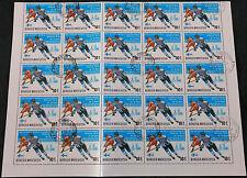Mongolia 1979, 10m World Ice Hocket Championships Cto Used Half A Sheet #V4211