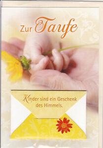 1 Glückwunschkarte zur Taufe Karte Taufkarte Grußkarte   #113675