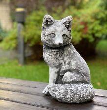 FOX STATUE 20lb. Beautiful Fox Sculpture, Concrete Fox Figure, Cement Fox,Garden