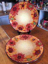 "Set Of 2 Pfaltzgraff EVENING SUN Hand Painted 11 3/4"" DINNER PLATES. EUC"