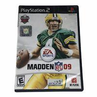 Madden NFL 09 (Sony PlayStation 2, 2008) Complete w/Manual CIB