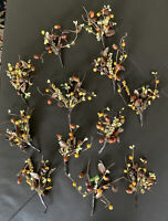 Lot 12 Fall Autumn Decorative Floral Picks