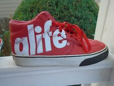 6393140b84214d Men s ALIFE Everybody High Soda red Leather athletic sneakers sz 13