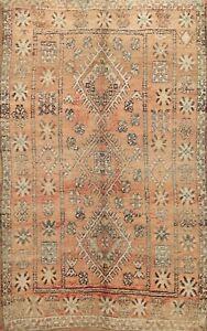 Antique Vegetable Dye Handmade Authentic Moroccan Berber Oriental Area Rug 6x8