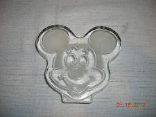 Solid Glass Mickey Mouse Etched Head. Very Nice!