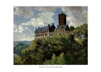 Die Wartburg XL Kunstdruck 1908 von Eduard Hartung * in Spengarsken † in Jena