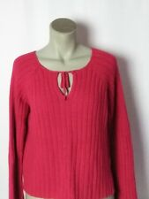 No Boundaries Womens Junior Large (11-13) Long Sleeve Pullover Knit Sweater Red
