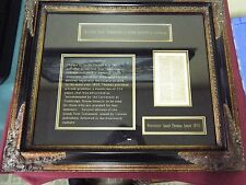 Framed page from the first New Testament in Greek printed in America - 1800