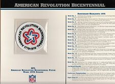 1976 ALL NFL LEAGUE TEAMS BICENTENNIAL OFFICIAL JERSEY PATCH WILLABEE WARD
