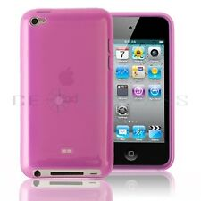Pink TPU Soft Silicone Case Cover + 3PCS Screen Protector For iPod Touch 4 4th