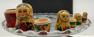 vintage Russian stacking dolls Set Of 4