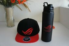 NEW ROG Republic Of Gamers Logo Embroidered baseball hat cap & Water Bottle