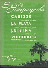 LA PLATA Damele,Gattoni,Panario- CAREZZE, LUISINA, VOLUTTUOSO Bonzaghi# SPARTITO
